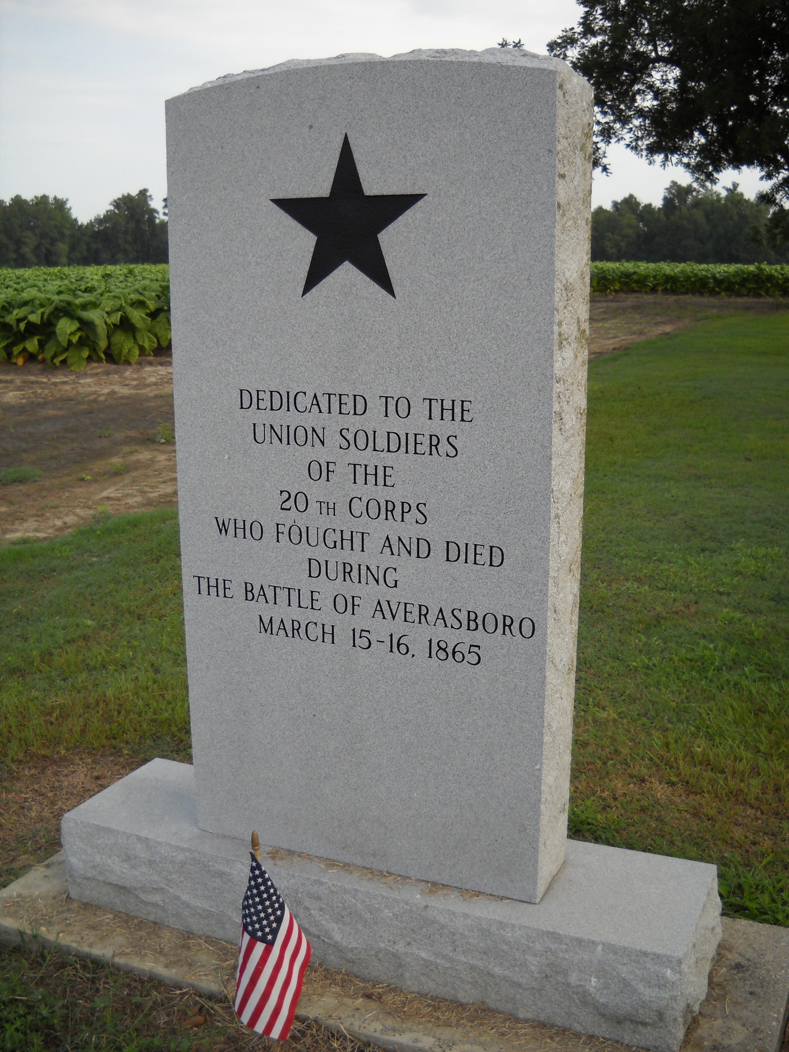 20th Corps Marker (rear view)