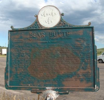 Bear Butte Marker image. Click for full size.