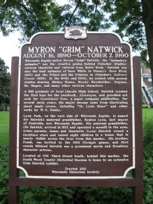 "Myron ""Grim"" Natwick Marker Photo, Click for full size"