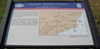 "William L. ""Mudwall"" Jackson Marker image. Click for full size."