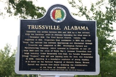 Trussville, Alabama Marker image. Click for full size.