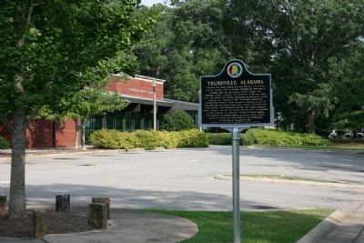 Trussville, Alabama Marker in front of the Trussville Library image. Click for full size.