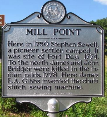 Mill Point Marker image. Click for full size.