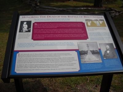 Honoring the Dead of the Battle of Bentonville Marker image. Click for full size.