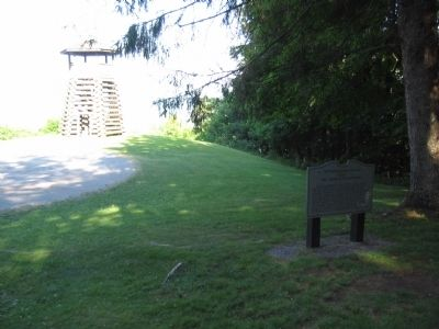 14th Pennsylvania Cavalry Marker and Lookout Tower Photo, Click for full size