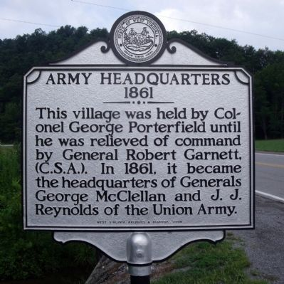 Army Headquarters 1861 Marker Photo, Click for full size