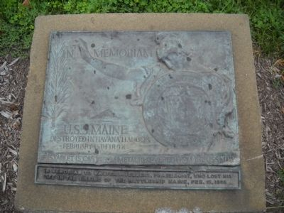 U.S.S. Maine Memorial Marker image. Click for full size.