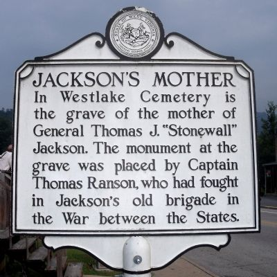 Jackson's Mother Marker Photo, Click for full size