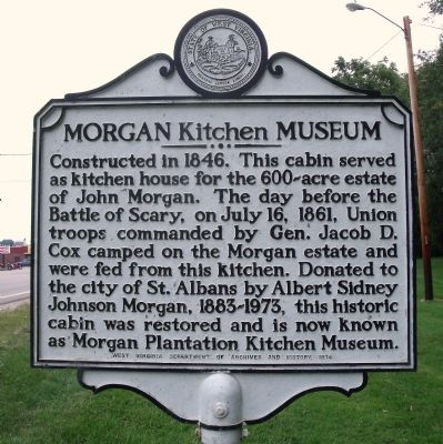 Morgan Kitchen Museum Marker image. Click for full size.