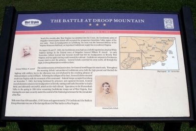 The Battle At Droop Mountain CWT Marker image. Click for full size.