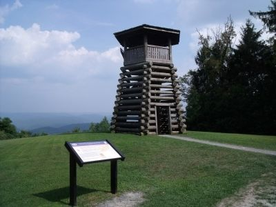 Droop Mountain Lookout Tower image. Click for full size.