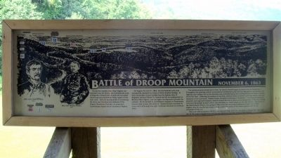 The Battle At Droop Mountain Marker image. Click for full size.