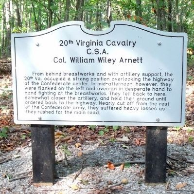 20th Virginia Cavalry Marker image. Click for full size.