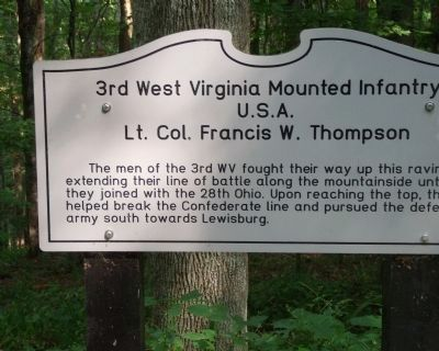 3rd West Virginia Mounted Infantry Marker image. Click for full size.