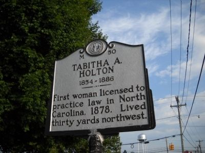 Tabitha A. Holton Marker image. Click for full size.
