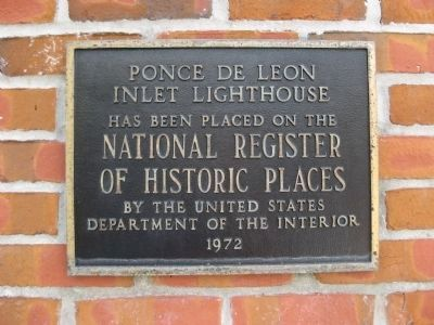 Ponce de Leon Inlet Lighthouse NRHP Plaque image. Click for full size.