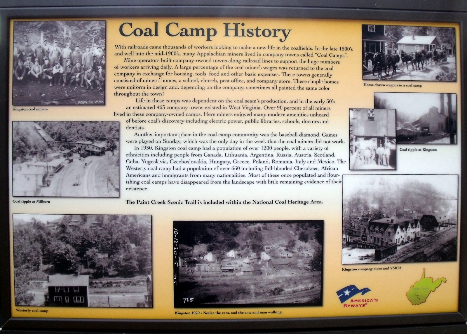 Coal Camp History Marker