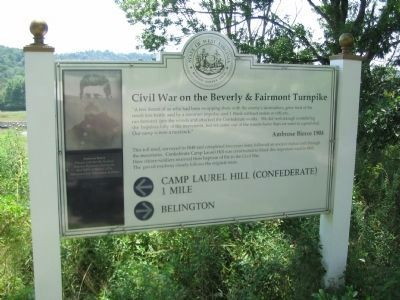 Civil War on the Beverly & Fairmont Turnpike Marker image. Click for full size.