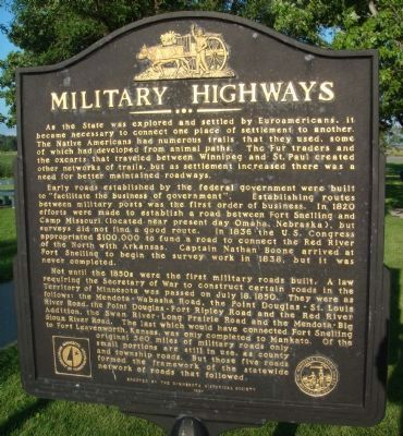 Military Highways Marker image. Click for full size.