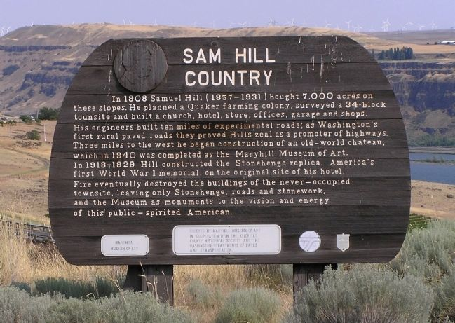 Sam Hill Country Marker image. Click for full size.