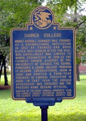 Shimer College Marker image. Click for full size.