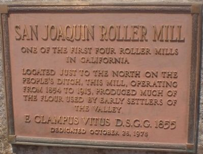 San Joaquin Roller Mill Marker Photo, Click for full size