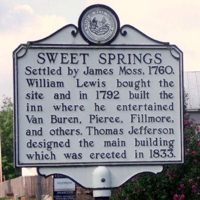 Ann Royall / Sweet Springs Marker image. Click for full size.