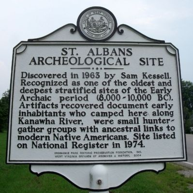 St. Albans Archeological Site Marker image. Click for full size.