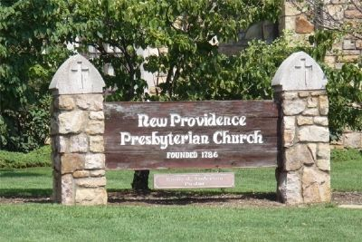 New Providence Church current sign Photo, Click for full size
