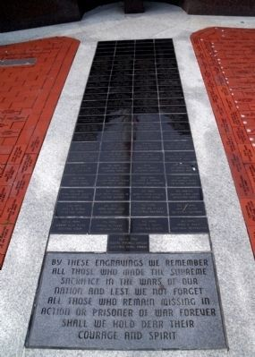 New Haven Veterans' Memorial Engravings Photo, Click for full size