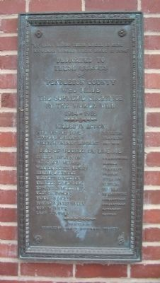 Pendleton County World War I Memorial Marker image. Click for full size.