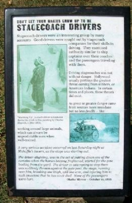 Stagecoach Drivers Marker image. Click for full size.