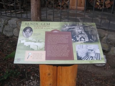 Baldwin House & Tallac Museum Marker Photo, Click for full size