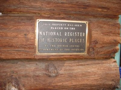 National Register of Historic Places Plaque Photo, Click for full size