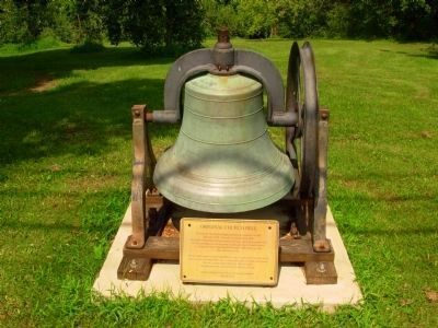 Freewill Baptist Church Original Bell image. Click for full size.