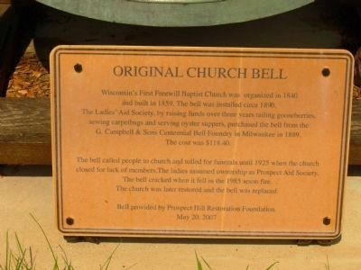 Original Church Bell Marker image. Click for full size.