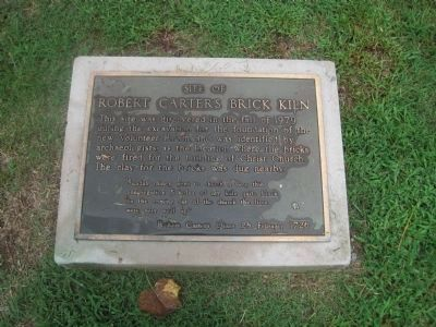 Site of Robert Carter's Brick Kiln Marker Photo, Click for full size