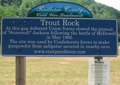 Trout Rock Marker image. Click for full size.