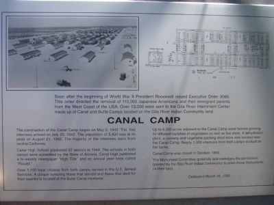 Canal Camp Marker image. Click for full size.