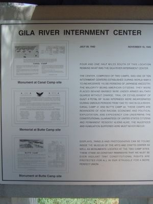 Gila River Internment Center Marker image. Click for full size.