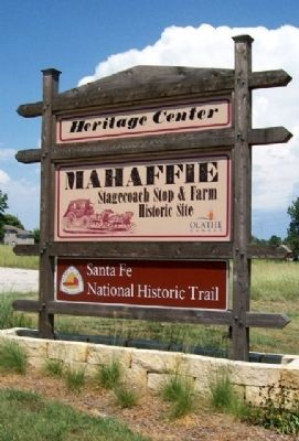 Mahaffie Stagecoach Stop & Farm Sign image. Click for full size.