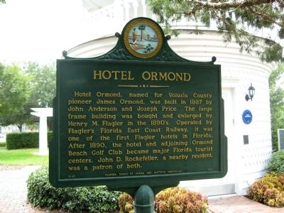 Hotel Ormond Marker image. Click for full size.