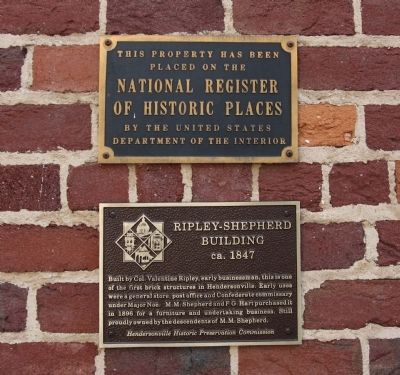 Ripley - Shepherd Building Marker Photo, Click for full size