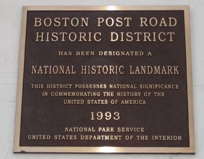 Boston Post Road Historic District Plaque image. Click for full size.