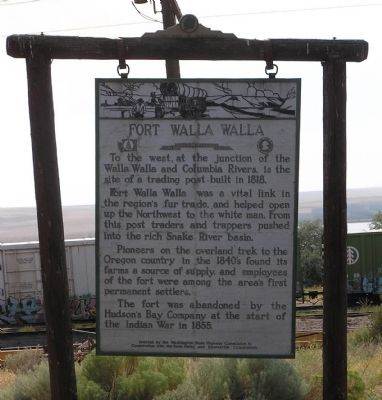Fort Walla Walla Marker image. Click for full size.