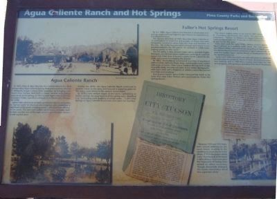 Agua Caliente Ranch and Hot Springs Marker image. Click for full size.