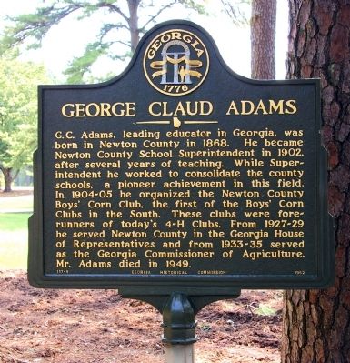 George Claud Adams Marker image. Click for full size.
