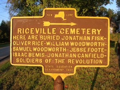 Riceville Cemetery Marker image. Click for full size.