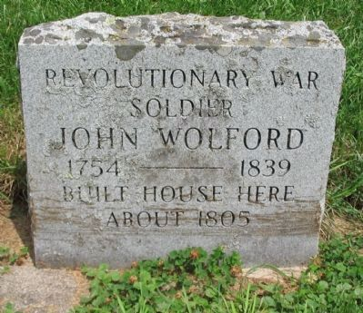 John Wolford Marker image. Click for full size.