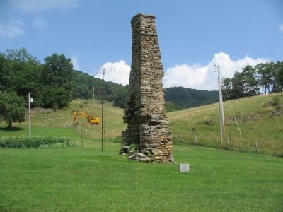 John Wolford Marker and Chimney Ruins image. Click for full size.